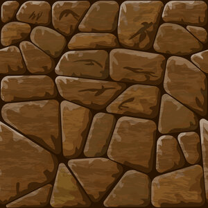 Vector illustration of brown stone seamless pattern