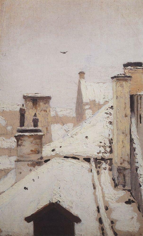 Крыши. Зима. 1876.jpg