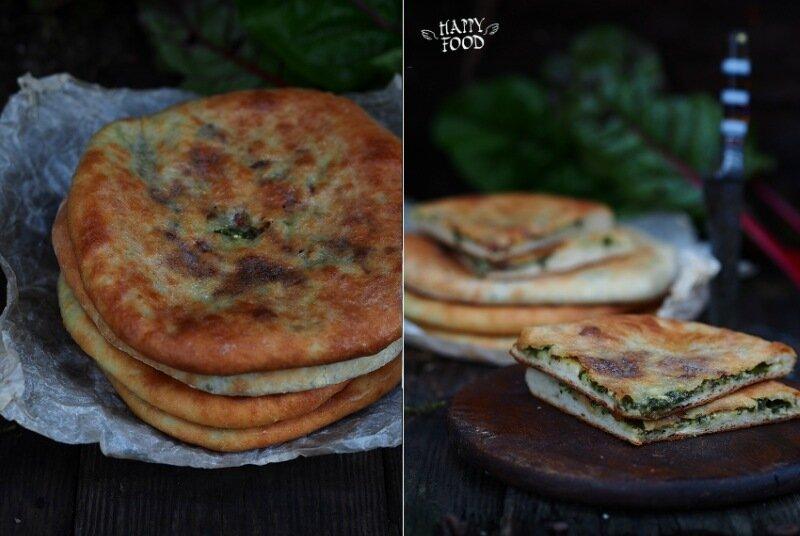Осетинские пироги со свекольной ботвой и сулугуни