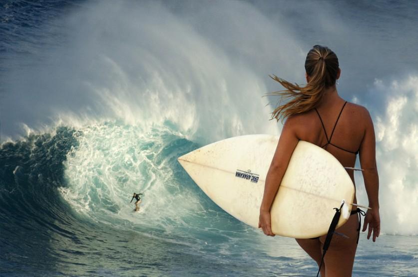 Сёрфингистка. Автор фото: bobviv