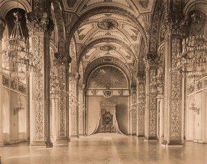 Интерьер Андреевского (тронного) зала  Большого Кремлёвского дворца.