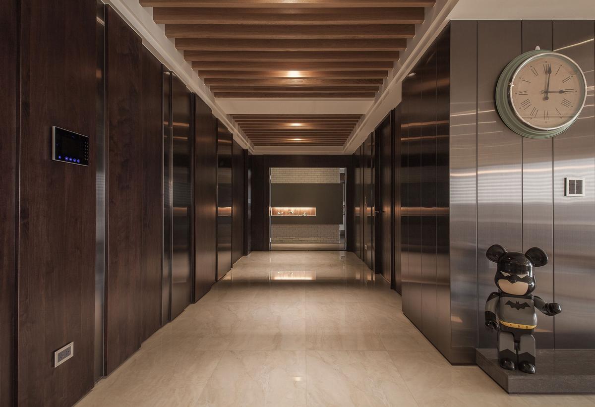 Oliver Interior Design, интерьер лофт, интерьер минимализм, большая квартира фото, дизайн интерьера Тайвань, мрамор в интерьере, стильный интерьер