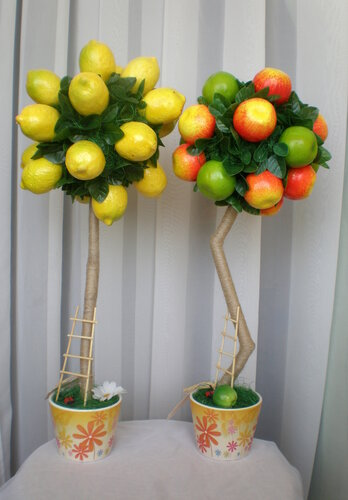 Топиарий лимонное дерево мастер класс