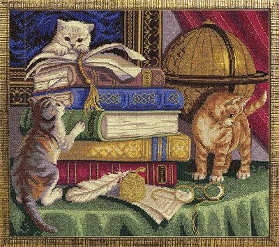 Котята с книгами