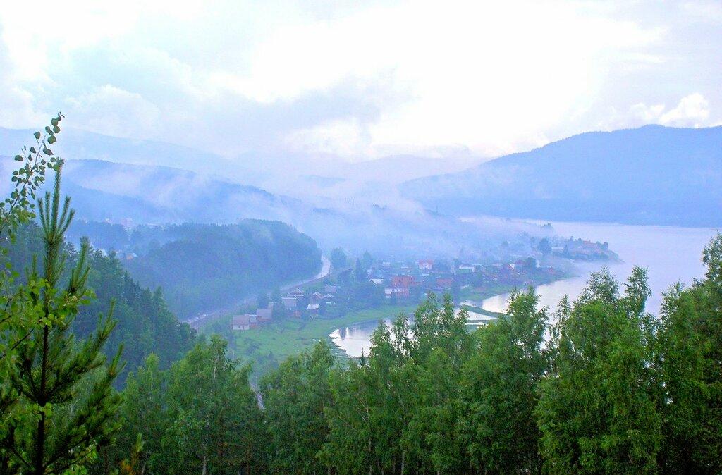 Стоит туман над Енисеем