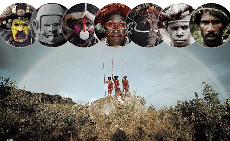 Before they Pass Away / Indonesia + Papua New Guinea / Huli, Asaro, Kalam, Goroka, Dani, Yali, Korowai / photo by Jimmy Nelson