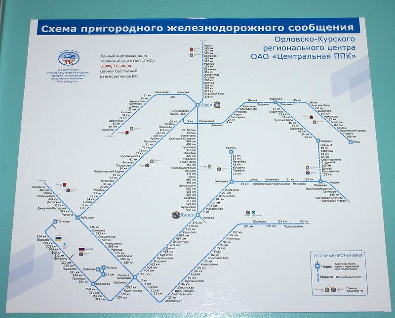 Схема Орловского региона
