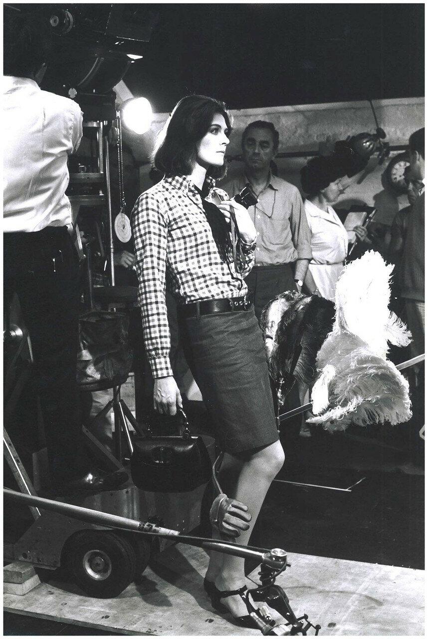 1966. Ванесса Редгрейв, во время съемок «Фотоувеличения»