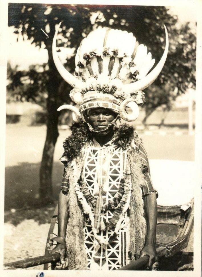 1930. Южная Африка.  Рикша из Дурбана