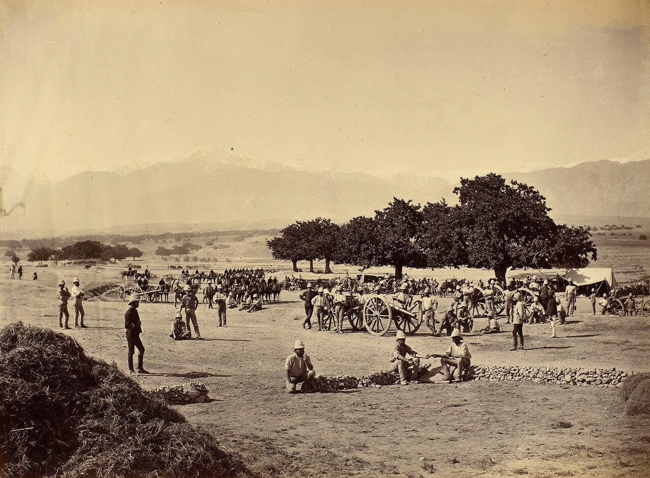 47. Лагерь Королевской конной артиллерии около Сефид-Куха