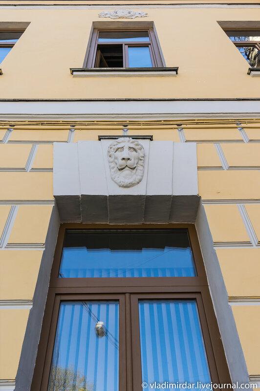 Архитектурный фрагмент северо-восточной стороны фасада главного здания усадьбы Усачевых-Найденовых