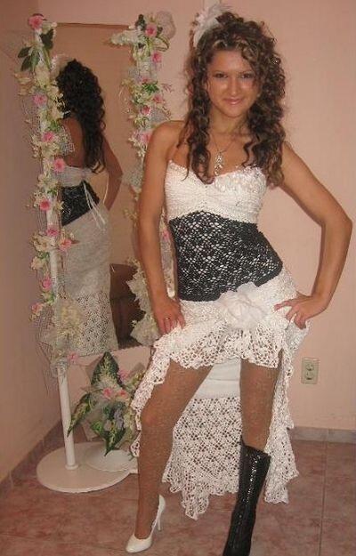 Как связать свадебное платье