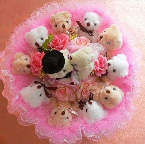 Букет из игрушек на свадьбу фото