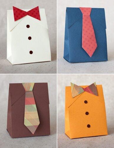 Упаковка в форме рубашки и галстука
