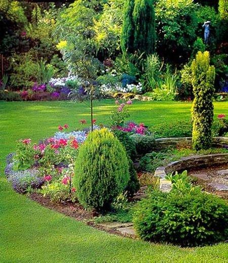 Дизайн садового участка, фото нашего сайта показывают какие дизайнерские решения можно предусматреть на разной...