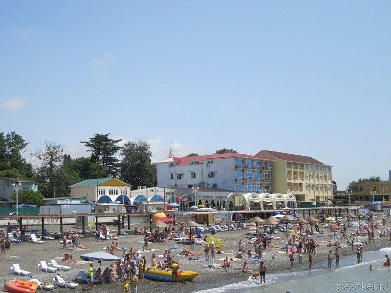 Адлер. Пляж