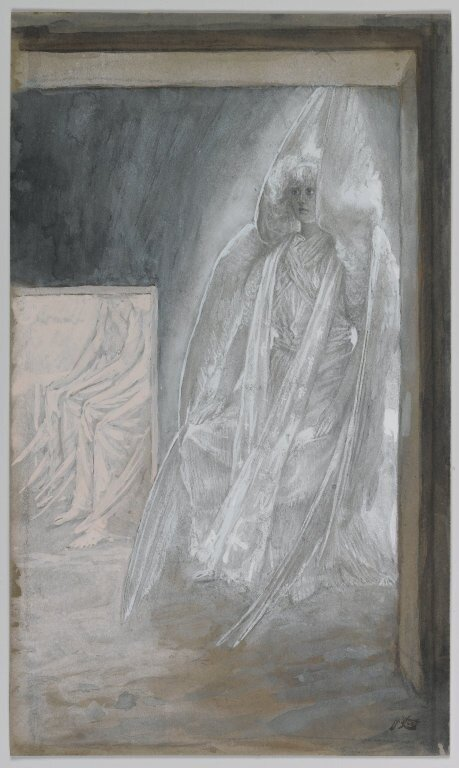 Brooklyn Museum: The Angel Seated on the Stone of the Tomb (L'ange assis sur la pierre du tombeau)