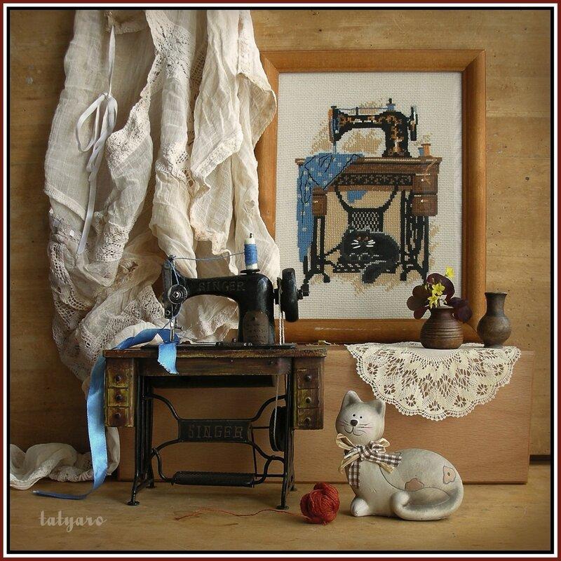 Натюрморт с швейной машинкой