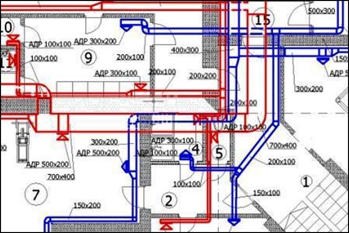 Принципиальная схема вентиляции помещений и нормативные кратности воздухообмена определяются из 3-х основных...
