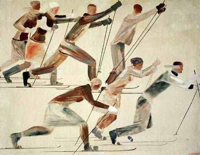 А.Дейнека. Лыжники. 1926