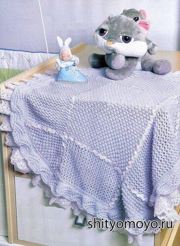 вязание спицами для детей модели и схемы бесплатно голубой плед для