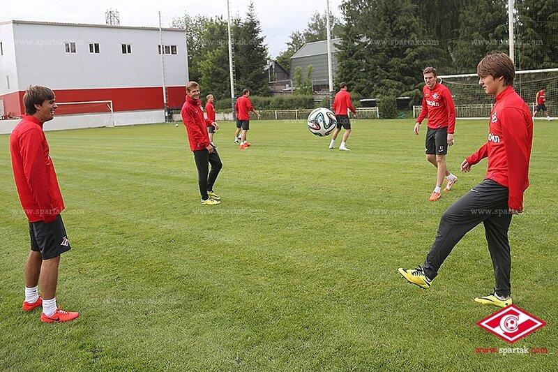 Первая тренировка Мурата Якина в «Спартаке»