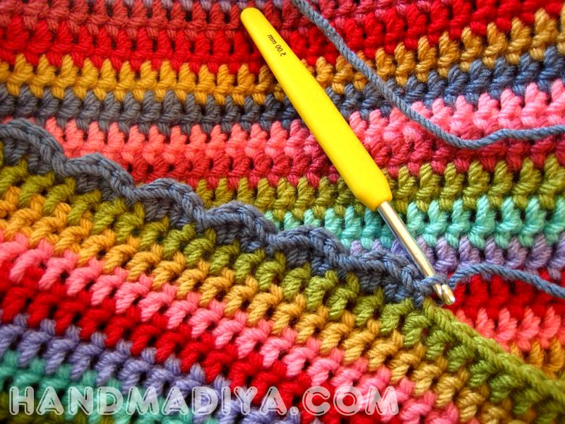 Вместительная вязаная сумка на лето. Roomy crochet bag for summer