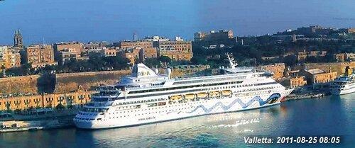 Лайнер виртуального круиза в Валлетте (Мальта)