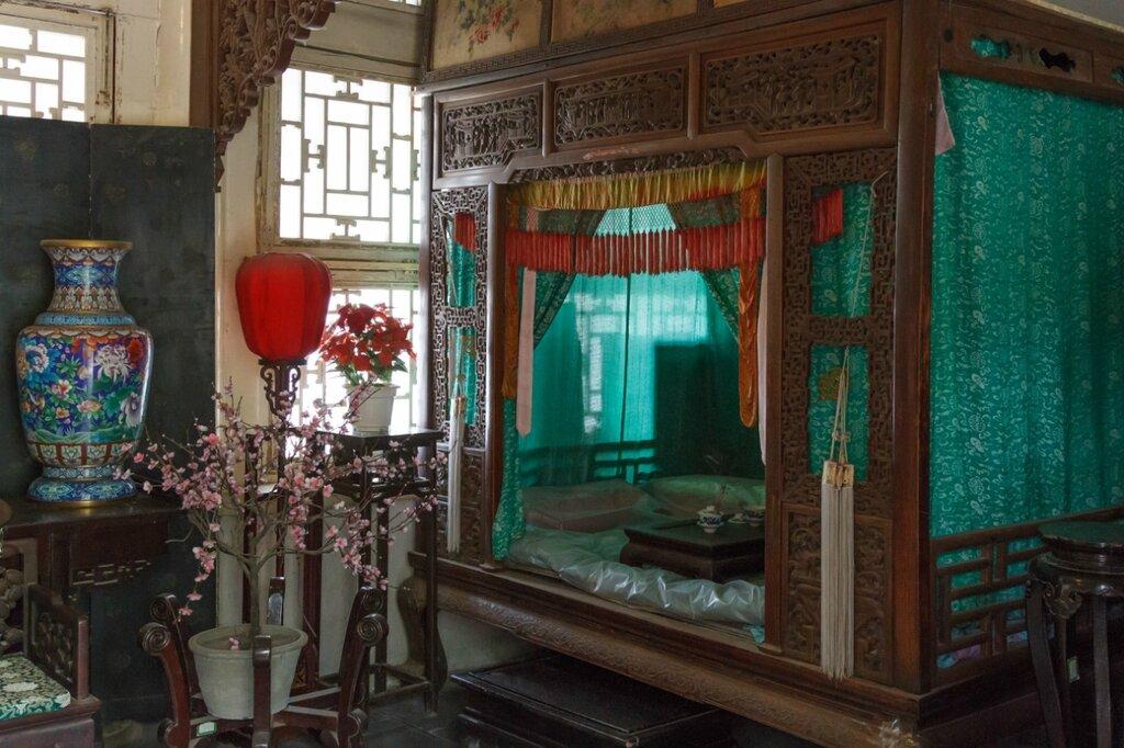 Спальня, традиционный китайский интерьер