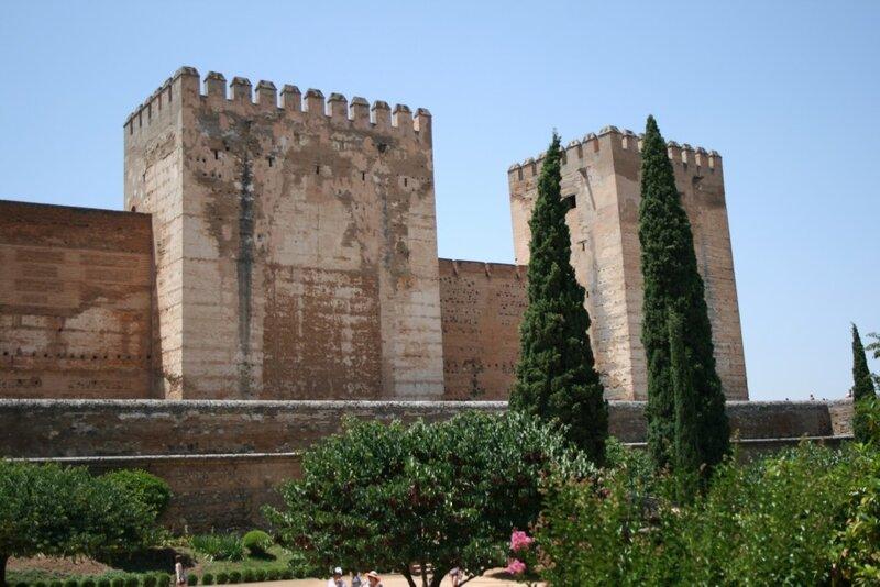 Альгамбра, Алькасаба, вид на Альбайсин