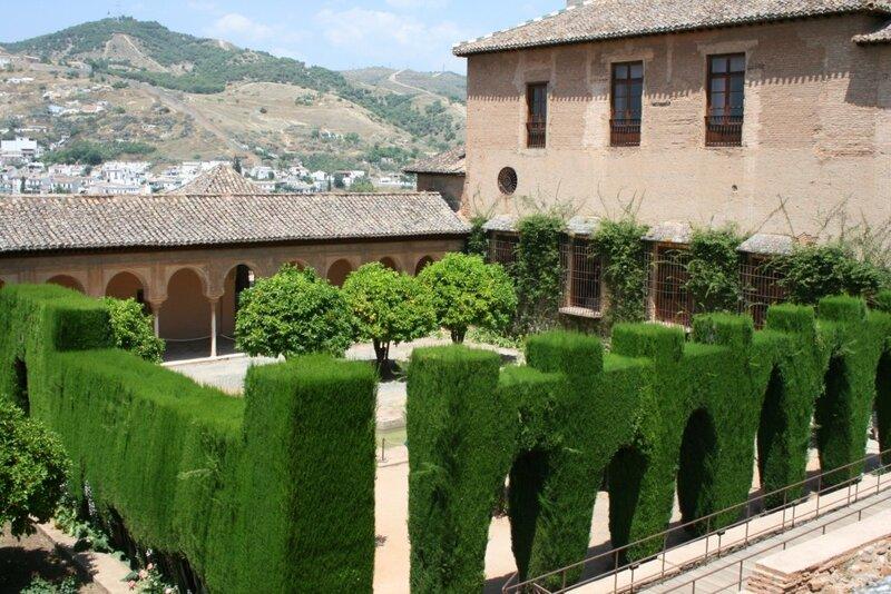 Альгамбра, сады Дворцов Насридов