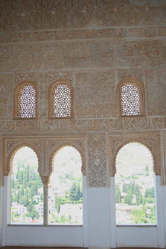 Альгамбра, Дворцы Насридов