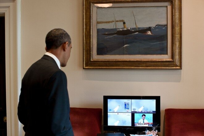 Barak Obama and Sony Bravia