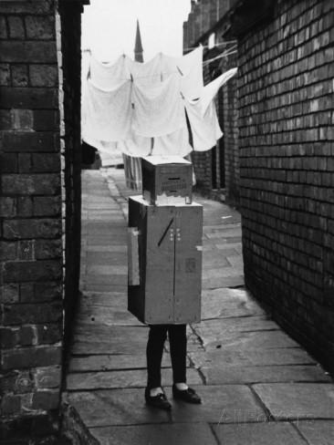 Child in Fancy Dress Robot Costume - 1966