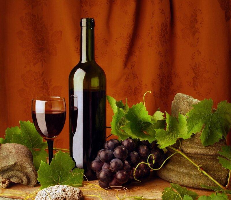 Classic red wine still life