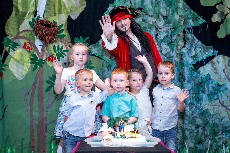 Фото у торта Дня рождения