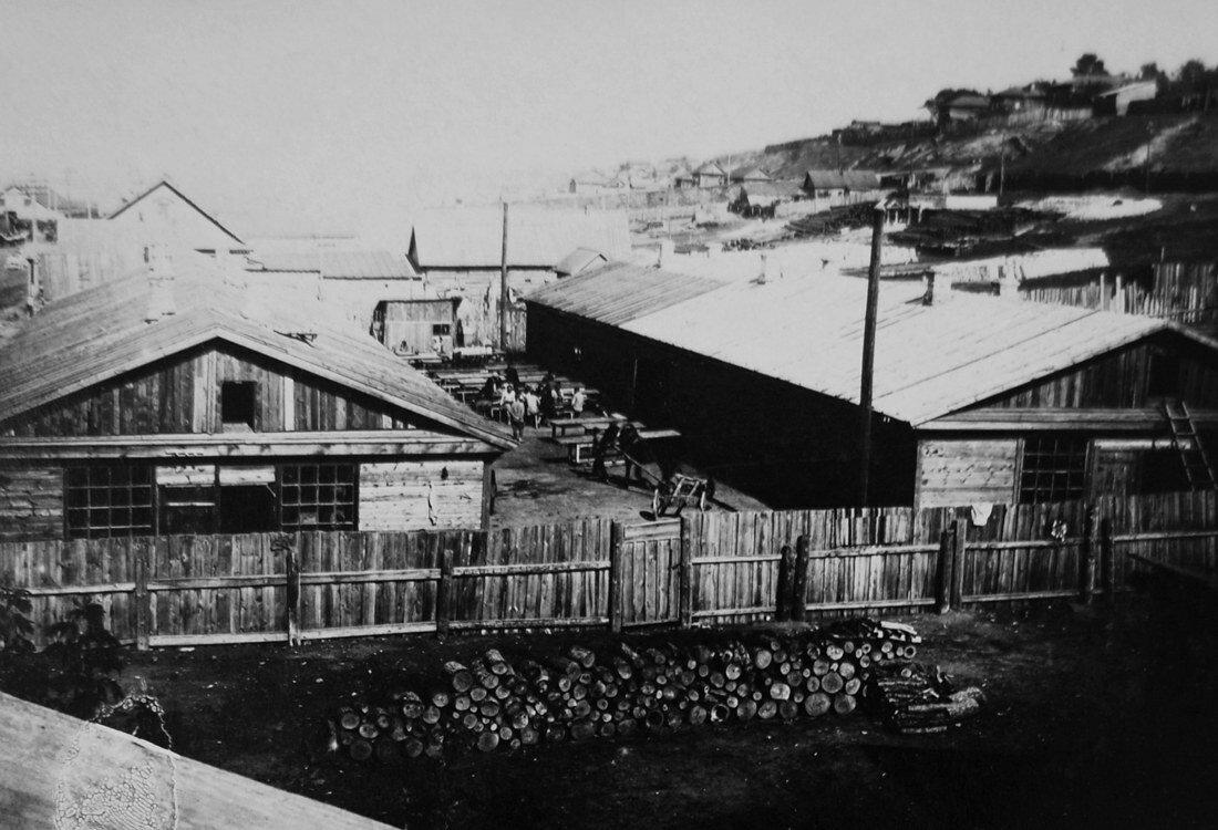 1931. Два барака для строителей на 150 человек