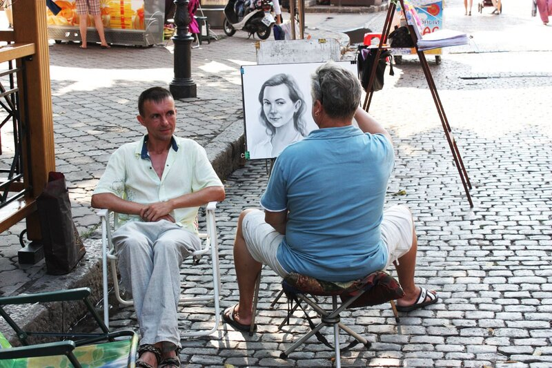 Одесса, художники, Приморский бульвар