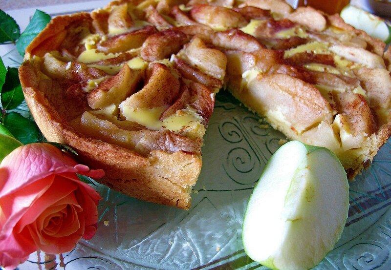 Пирог с яблоками и мёдом