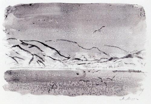 Зима на Хоккайдо. Бумага, акварель. 1991.jpg