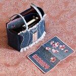 """Органайзер для сумки """"Джинсовый гламур"""" и обложка на паспорт """"Сакура""""."""