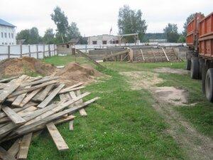 Строительство православной часовни в селе Рябчи. Фундамент заложен.