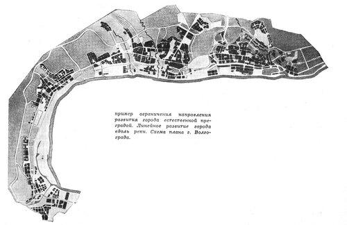 Схема плана г. Волгограда