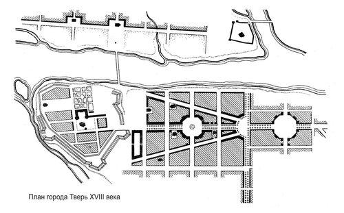 План г. Тверь XVIII века