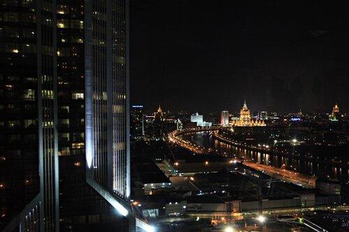 Москва с башни Федерация в Москва Сити