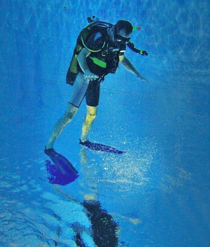 шаги под водой