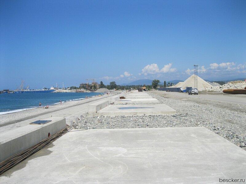 Будущая набережная - бывший пляж