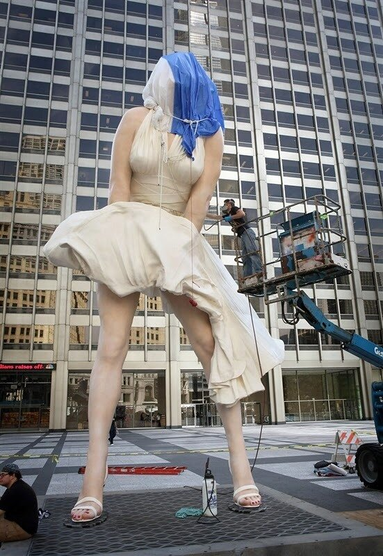 скульптура мерилин монро