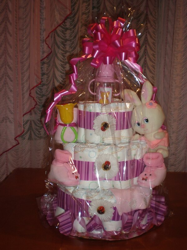 Мастер-класс тортик из памперсов