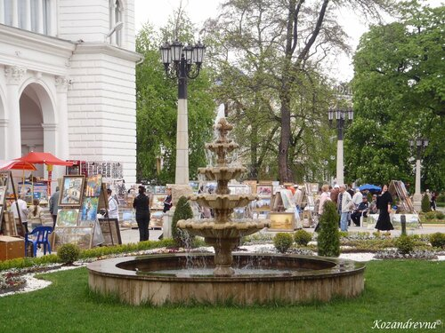 Начало Лечебного парка в Кисловодске.